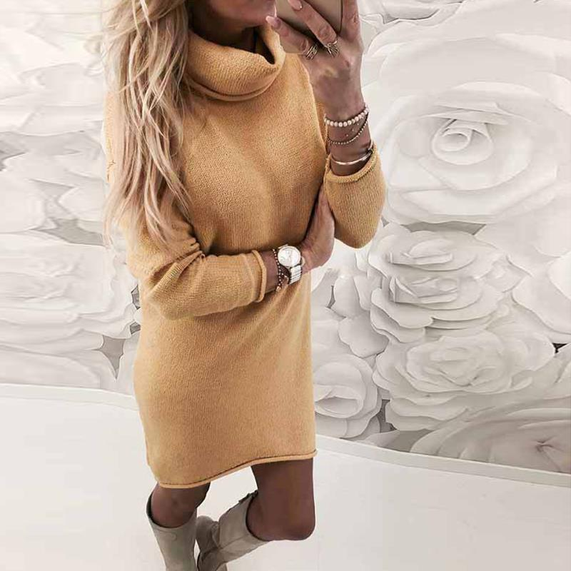 2018-Autumn-Winter-Women-Knitted-Sweater-Dresses-Turtleneck-Bodycon-Slim-Jumper-Vestido-Long-Causal-Pullover-WS5260C