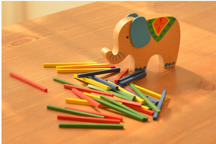 Baby Toys Educational Elephant/Camel Balancing Blocks Wooden Toys Beech Wood Balance Game Montessori Blocks Gift For Child 3