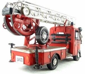 Image 5 - Antieke klassieke brandweerwagen model van Duitse in 80 s retro vintage handgemaakte metalen ambachten voor thuis/pub/cafe decoratie of gift