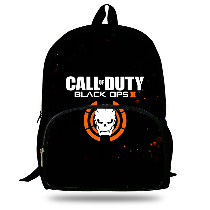New Popular Game PS3 Call Of Duty Black OPS 4 Children School Bags for Teenage Boy Girls Students Bag Backpack Mochila Escolar цена и фото