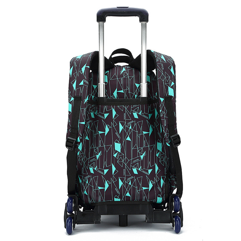 Latest Removable Children School Bag Bags With 3 Wheels Stairs Kids Boys Girls Trolley Schoolbag Luggage Book Bags Backpack in School Bags from Luggage Bags