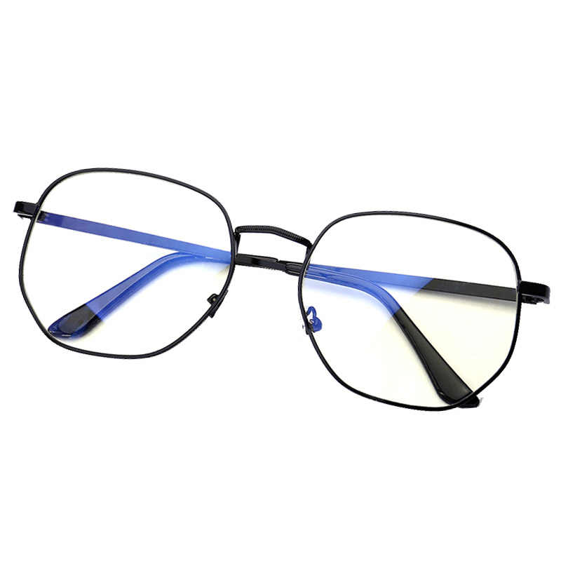 Lunettes anti-radiation à film bleu lunettes de protection polygonales irrégulières pour hommes