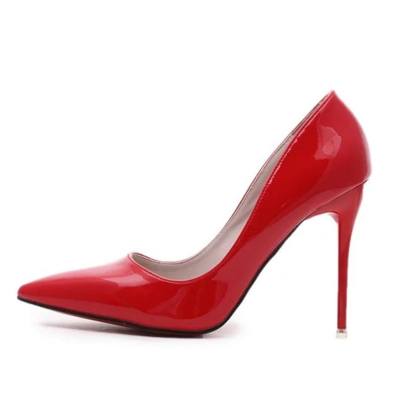 6cd85ee0 Charol Sólidos Ocasionales Las De Zapatos Mujer Baja rosado Mujeres Alto  Boca Sandalias Mingpinstyle Tacón Negro ...
