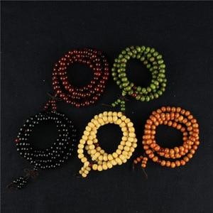 5 Colors 108 Beads 8mm Sandalwood Buddhist Jewelry Buddha Wood Prayer Bead Mala Unisex Men Bracelets & Bangles Jewelry Bijoux(China)