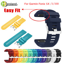 цена на 26mm New Replacement Silicone Quick Release Kit Band Strap For Garmin Fenix 5X for Garmin Fenix 3 3 HR Watchband Easyfit Wrist