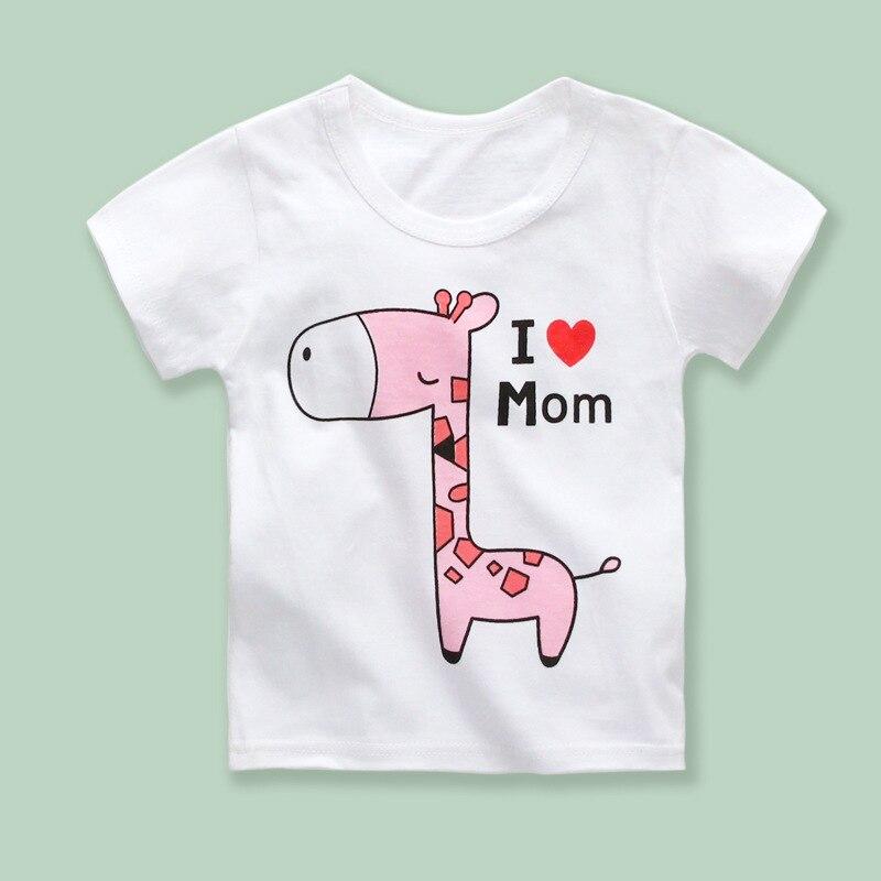 Tumpjoy детская одежда футболка для мальчиков костюм для ребенка roupas infantis menino Chid футболки милый олень Я люблю маму узор