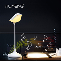 mumeng led Table Lamp Bedside Portable Night Light Bluetooth Speaker Muisic Lampara Colorful Decor Bedroom Living room Luminare