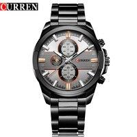 NEW CURREN Luxury Brand Men Full Steel Business Wristwatches Man Casual Waterproof Watch Quartz Watches Relogio