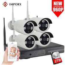 IMPORX 4CH CCTV System Wireless 960P NVR With 1.3MP Outdoor Waterproof Wifi Security Camera System Night Vision Surveillance Kit