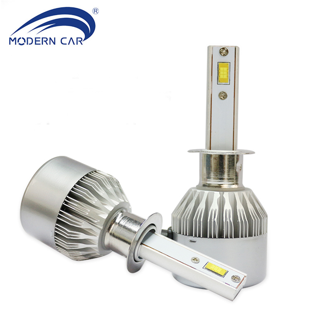 MODERN CAR H1 H3 H4 <font><b>H11</b></font> <font><b>LED</b></font> Headlight Bulbs <font><b>72W</b></font> 8000LM White 6000K Car External fog Light Replace Hologen Lamp DC12-24V #m6p