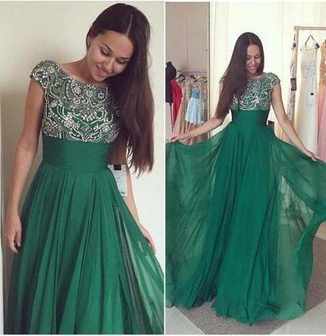 Vestidos de fiesta color verde oscuro