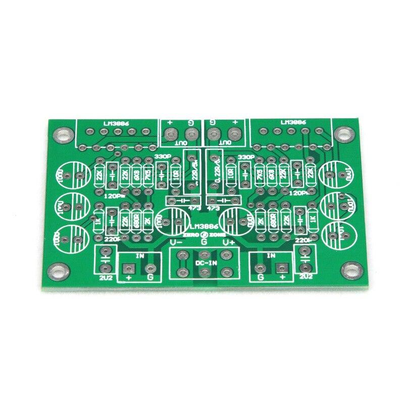 SUQIYA-LM3886 двухканальный чистого усилителя динамический отзывы PCB цепи