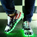 Women Led light shoes 2017 hot fashion USB led luminous shoes women casual shoes