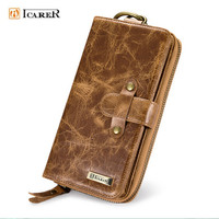 Handbag Genuine Cow Leather Mobile Phone Case Man Card Wallet For Samsung Galaxy S8 Plus S6