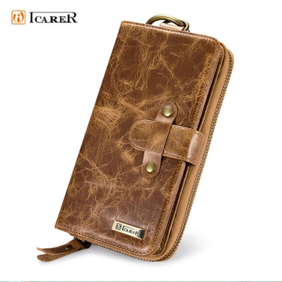 Handbag Genuine Cow Leather Mobile Phone Case Man Card Wallet For Samsung Galaxy S8 Plus,S6 edge Plus,S7 Edge,C7 Pro,Note8
