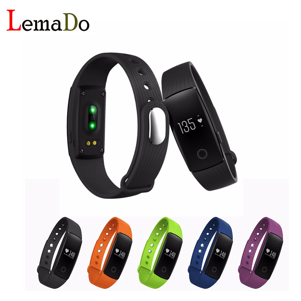 in stock ID107 Sport Smart Wristband Bluetooth 4.0 Smartband Smart Band Sleep Monitor Smart Bracelet pk Mi Band 2 1S