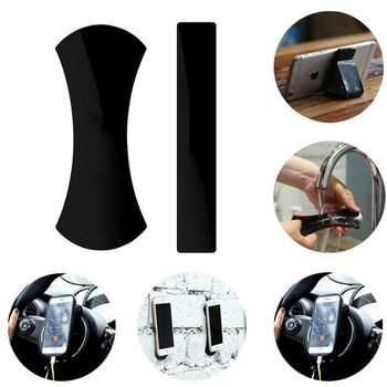 2PCS Rubber Pad Anti-Slip Mat Sticker No Trace Car Mobile Phone Holder Lazy Bracket Pods Sticky Gel Pad Wholesale steering wheel phone holder