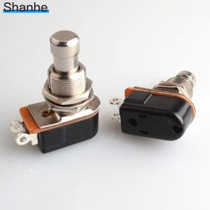 Image 2 - 1pcs SPST Momentary Soft Touch Push Button Stomp Foot pedal switch Electric Guitar Switch OFF Momentary ON
