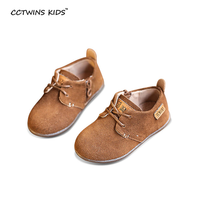 CCTWINS CRIANÇAS primavera outono criança moda crianças lace-up sapato de bebê menina menino marca de camurça preta de couro genuíno flats cinza G835