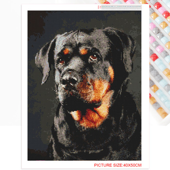 Huacan 5d Diamond Painting New Arrivals Dog Diamond Mosaic Diamond Embroidery Animal Square Round Picture