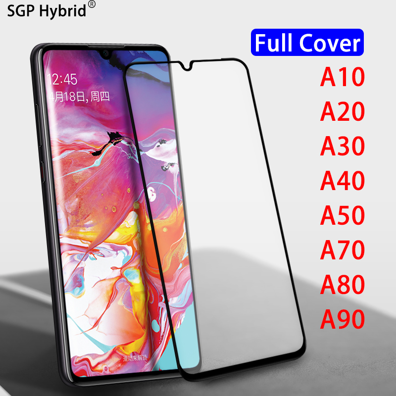 Full protective Tempered <font><b>Glass</b></font> for <font><b>Samsung</b></font> Galaxy A10 A20 A30 A40 A50 A70 A80 A90 <font><b>A</b></font> 10 20 30 40 <font><b>50</b></font> 70 80 90 screen protector 9H image