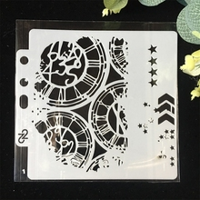 Buy 5.1inch Clock Dial Wheel Arrow Layering Stencils Painting Scrapbook Coloring Embossing Album Decorative Paper Card Template directly from merchant!