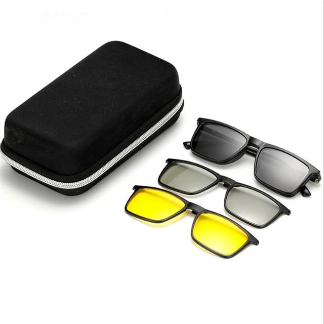 c6f3cbbeaf Prescription TR90 myopic glasses Magnets Polarized Sunglasses 3D glasses  Multifunction Nearsighted glasses Night vision