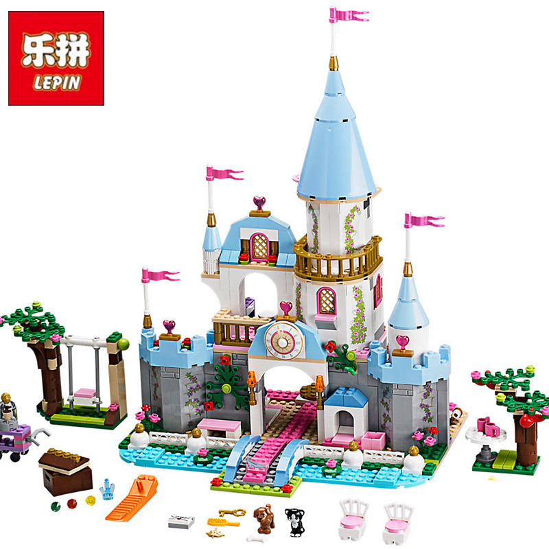 LEPIN 25006 Genuine Girl Series Princess Romantic Castle Palace DIY Set Model Building Kits Blocks Bricks Children Toy Christmas lepin 01018 girl series enchanted castle princess diy set doll house model building kits blocks bricks children toys christmas