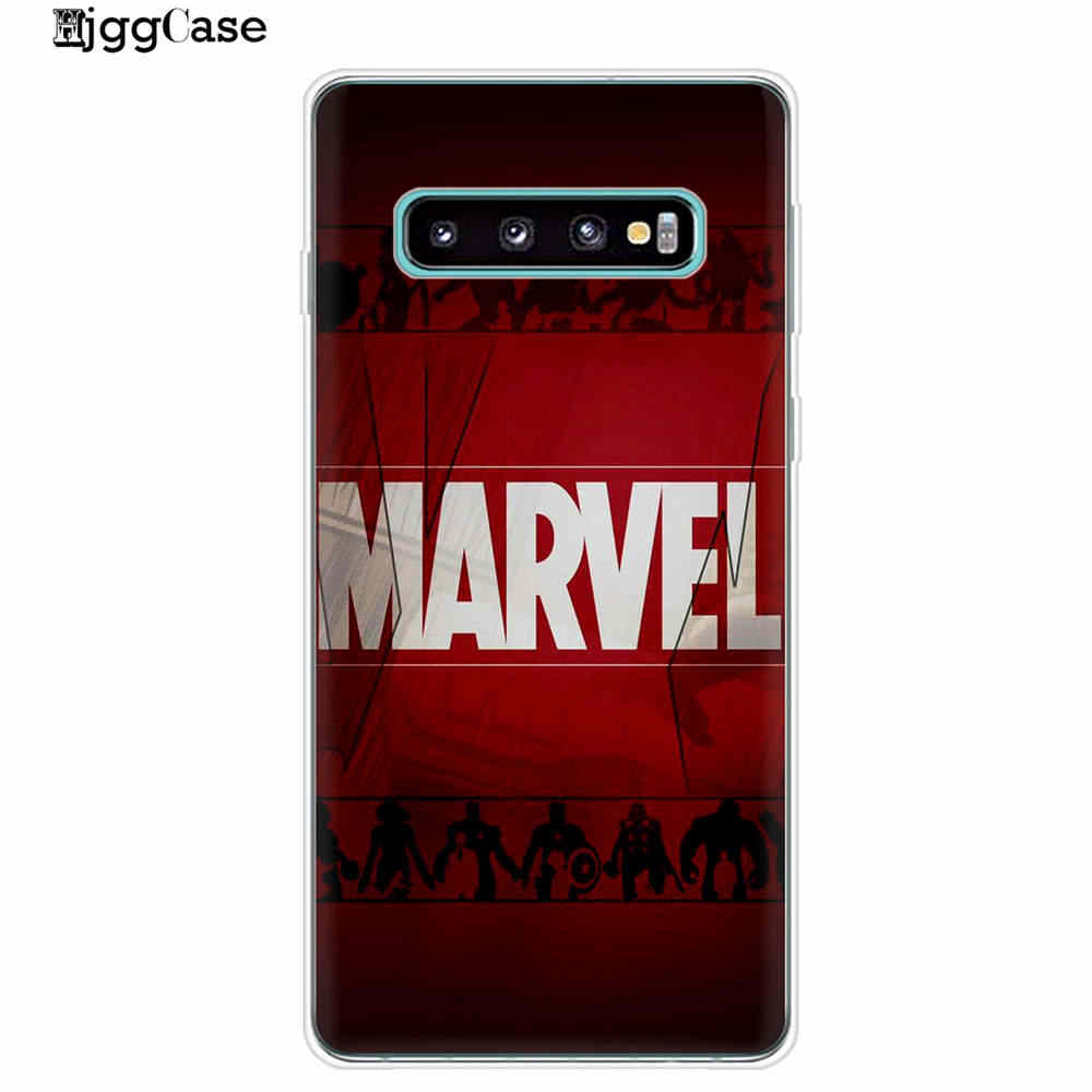 Vengadores de Marvel Comics héroes Collage teléfono caso Coque Samsung S10Plus S10E S10 Lite 5G + S8 S9 Plus cubierta de la caja del TPU del teléfono bolsas