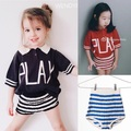 2017 ins bobo chose stripe summer baby boy clothes baby girl clothes kids t shirts+shorts 2 pcs clothing sets kids clothes boys