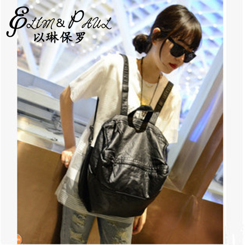 Ladies backpack high quality leather school shoulders for young girls fashion ladies travel bag 2017 new