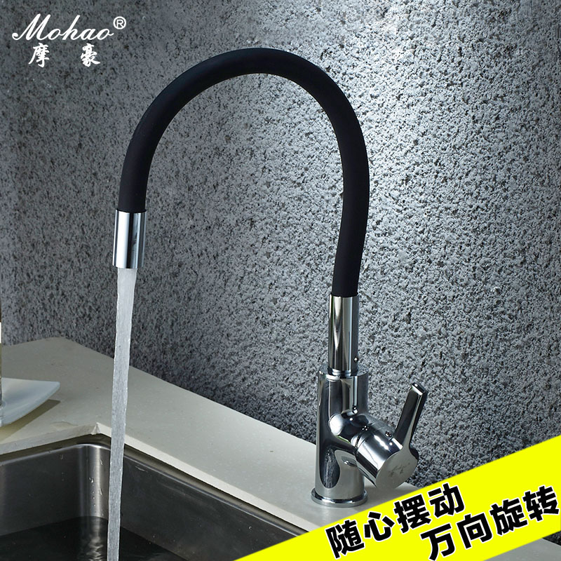 Kitchen Faucet High Quality Silica Gel Nose Any Direction Rotating Torneira Single Handle Cold And Hot Water Mixer frap new arrival silica gel nose any direction kitchen faucet cold and hot water mixer torneira cozinha crane f4453