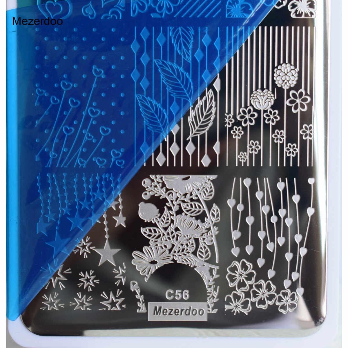 เล็บ Stamper ชุดวุ้นปั๊มชุดการออกแบบที่แตกต่างกันเล็บแสตมป์แผ่นภาพแม่แบบโลหะ 3D เล็บตกแต่งศิลปะ Stamper