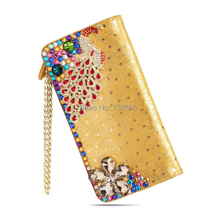 style 2016 women long design genuine leather wallet female gold rhinestone clutch multi card holder purse BM8059 - China Bags Mall Brand shop store