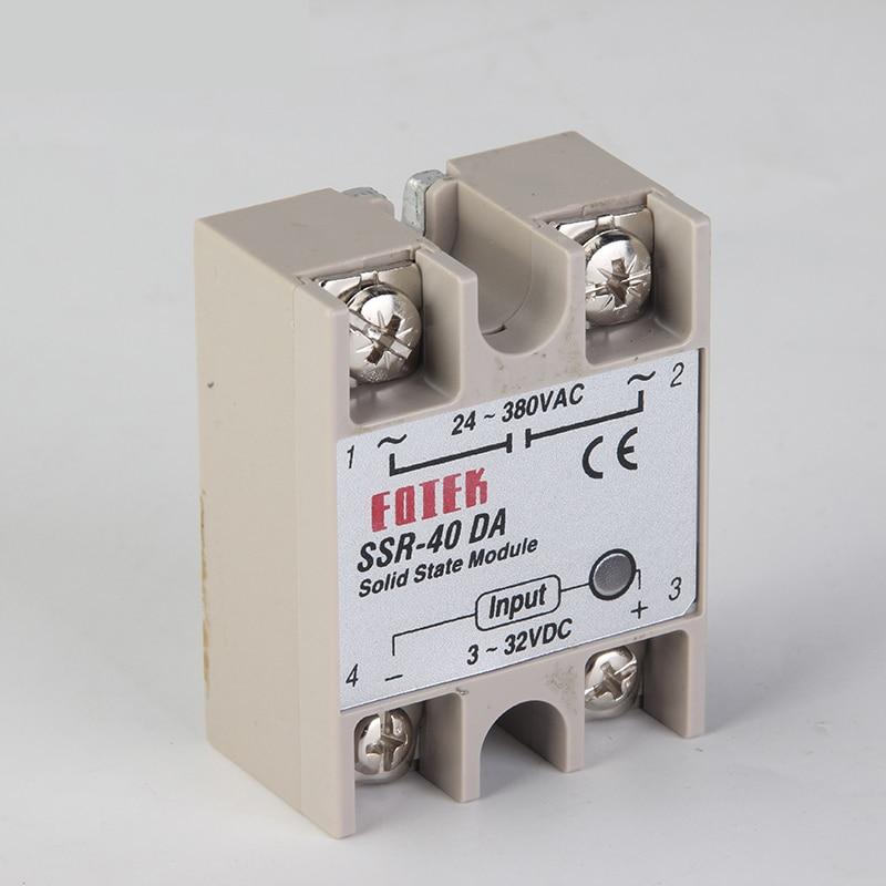 CNOBLE solid state relay SSR-60DA SSR-80DA SSR-100DA 60A 80A 100A actually 3-32V DC TO 24-380V AC SSR 60DA 80DA 100DA top brand dmwd solid state relay ssr 100da 100a ssr 100da 3 32v dc to 24 380v ac relay solid state dc ac