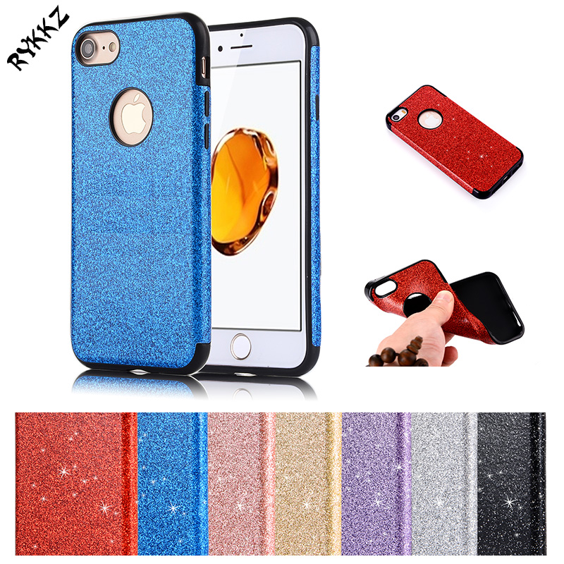 New Glitter cases For apple iphone 7 plus TPU case for iphone7 plus phone bumper fitted for iphone7plus silicagel phone cover