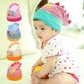 Dinosaurio Sombrero Infantil Primavera Tapas Recién Nacidos de Otoño Cute Niños Gorros de Algodón Suave de Rayas Niñas Sombreros Calientes Del Bebé Accesorios de Fotografía