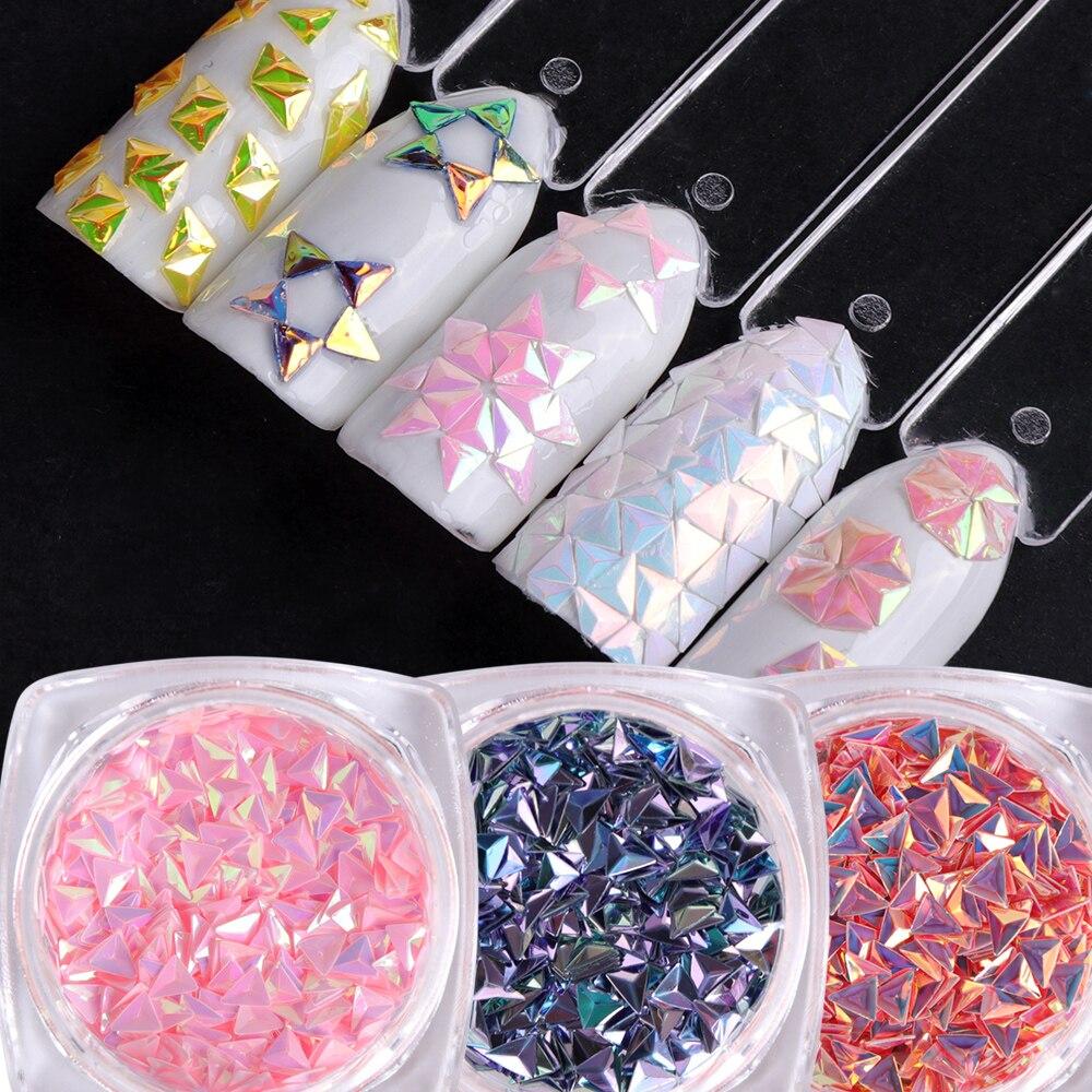 1 Box Laser Dreieck Spangle Flakes Nail Art Glitter Paillette Holographische Pailletten 3d Tipps Pulver Maniküre Dekoration Ji01-12 Bestellungen Sind Willkommen. Nails Art & Werkzeuge Schönheit & Gesundheit