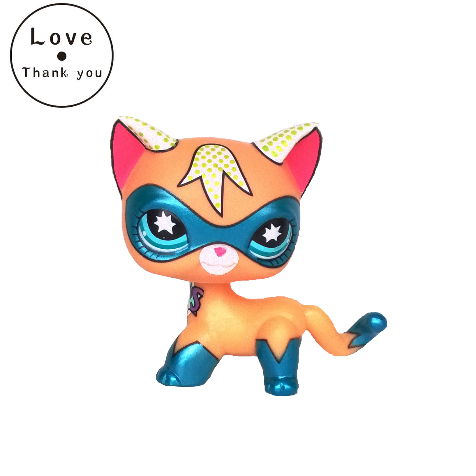 pet Toys Short Hair Cat Masked Super Hero Kitty Rare Old Animal Pet Free Shipping