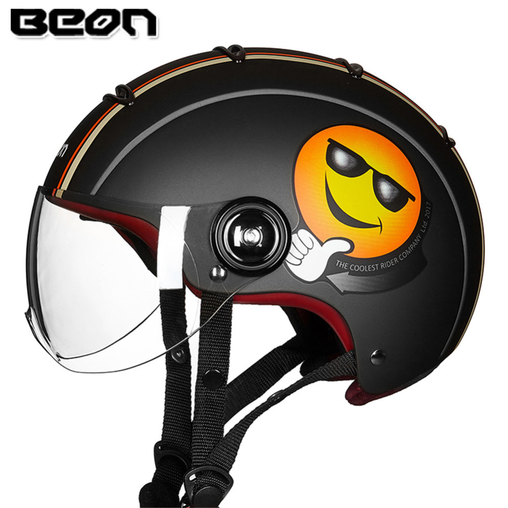 BEON Scooter Open Face Motorcycle Helmet Capacete Casque Casco Moto Helmets Kask Helm For Caschi Crash Motorrad Bike