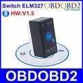 Мини ELM327 Bluetooth V1.5 С Выключателем Питания Работает На Symbian/Android/Windows OBD2/OBDII Диагностический Сканер Бесплатно доставка