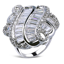 unique aaa cubic zirconia fashion rings gold color women rings prong setting free allergy wedding anniversary gift