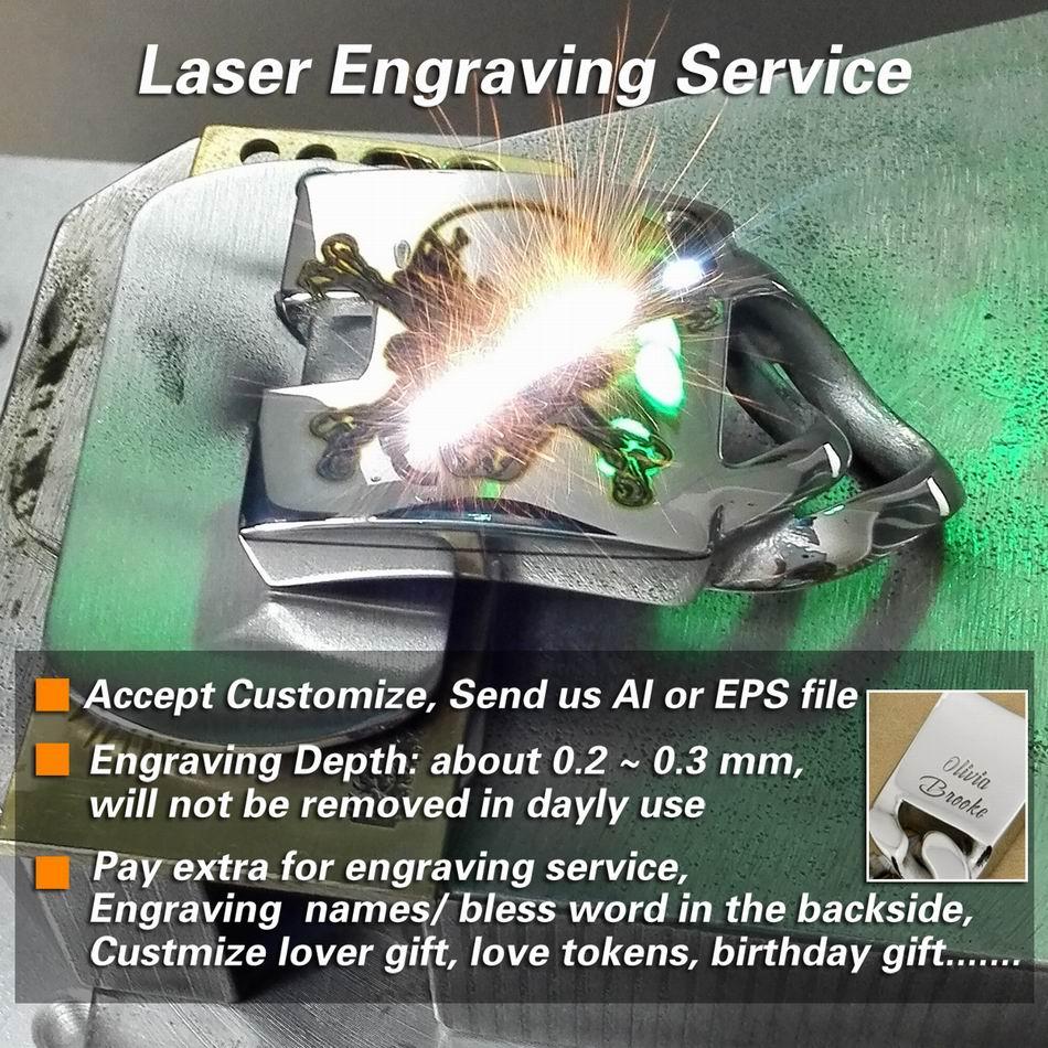 LINSION énorme lourd en acier inoxydable 316L Laser profond gravé Pirate crâne hommes garçons motard Rock Punk Bracelet 5T102 - 6