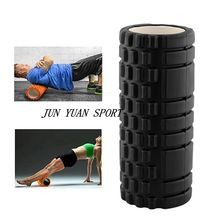 Top qualityEVA Yoga Pilates Fitness Foam Roller Yoga Column Train Gym Massage Grid Trigger Point Therapy Exercise Physio Black