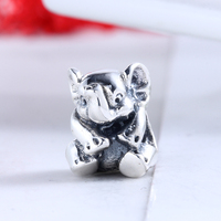 New High Quality 100 925 Sterling Silver Elephant Charms Beads Fit Original DIY Pandora Charm Bracelet