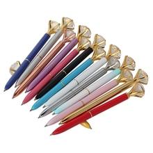 Офисная Шариковая ручка Kawaii с большим бриллиантом, металлическая шариковая ручка с большим бриллиантом, канцелярские товары, волшебная ручка, модные школьные офисные принадлежности