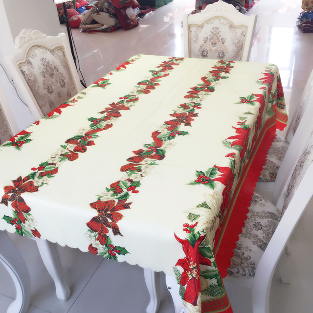 New Hot Sale 2018 Christmas Decorations Rectangular Tablecloth