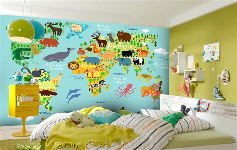 3d photo wallpaper custom mural room non-woven cartoon aninal world map painting picture 3d wall murals wallpaper for walls 3d 3d room custom wallpaper photo non woven mural picture 3d fantasy forest birds decoration painting wallpaper for walls 3 d