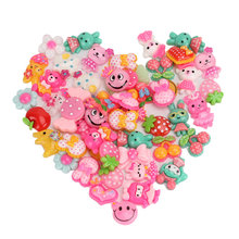 50pcs Cartoon Animal Fruit Resin Flatback Children Kids Flat Back Accessory Craft DIY Hair Bow Center Scrapbooking(China)