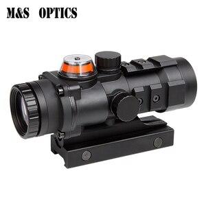 Ak 47 Optik Avcılık Çekim HD Gözlük Kırmızı Dot Fiber Optik Sight Kolimatör 3x32 Silah Zihinsel Tabanca Teleskopik tüfek Kapsamı